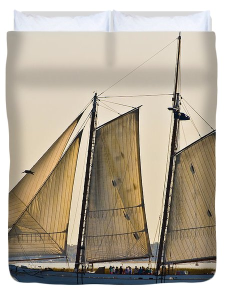 Scenic Schooner Duvet Cover by Al Powell Photography USA