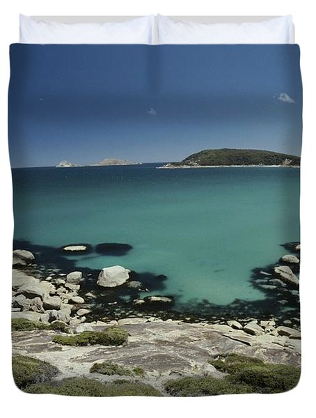 Scenic View Of A Bay At Wilsons Duvet Cover