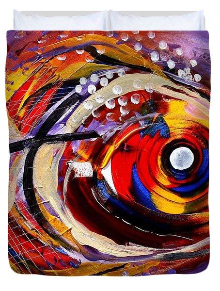 Scripture Fish Duvet Cover by J Vincent Scarpace