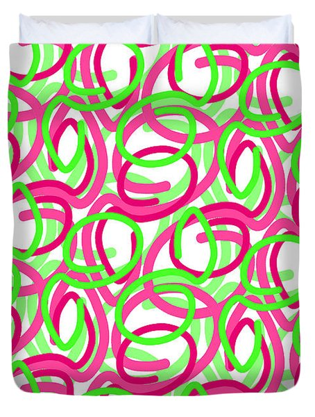 Scroll Duvet Cover by Louisa Knight