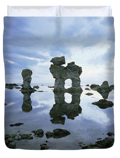 Sea Arch Duvet Cover by Bjorn Svensson and Photo Researchers