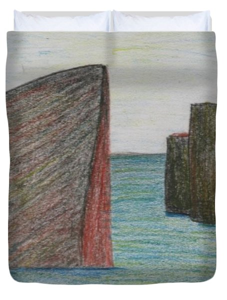 Sea Front Duvet Cover by Nedunseralathan R