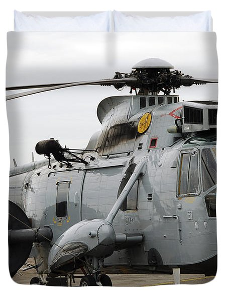 Sea King Helicopter Of The Royal Navy Duvet Cover by Luc De Jaeger