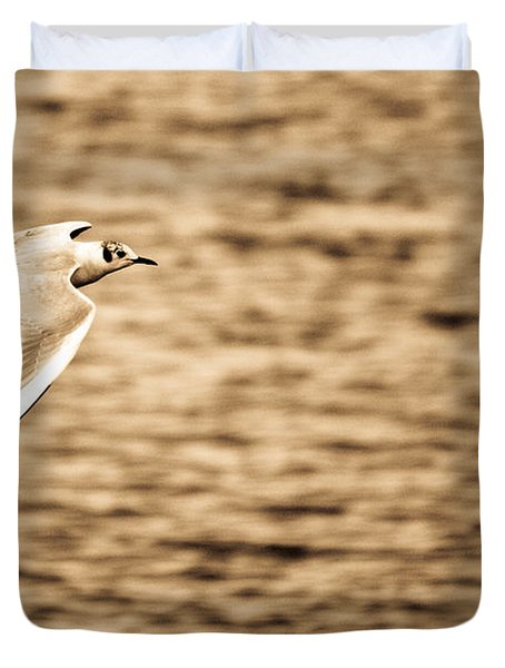 Seagull Antiqued Duvet Cover