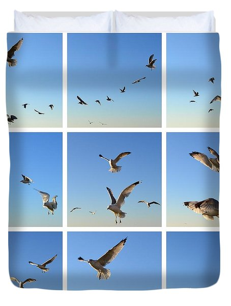 Seagull Collage 2 Duvet Cover by Michelle Calkins