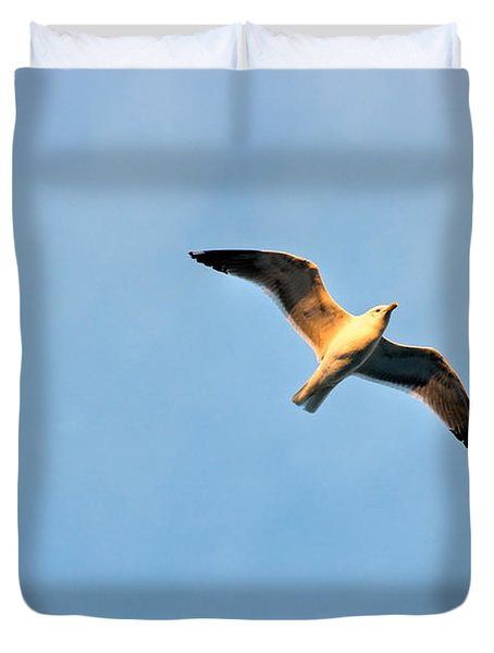 Duvet Cover featuring the photograph Seagull by Luciano Mortula