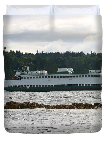 Sealth Ferryboat Rich Passage Duvet Cover by Kym Backland