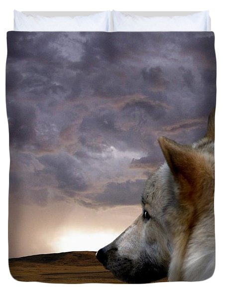 Searching For Home Duvet Cover by Bill Stephens