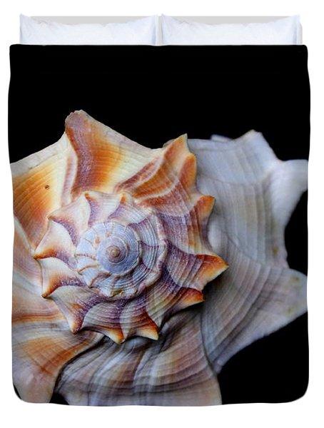 Duvet Cover featuring the photograph Seashell 1 by Deniece Platt