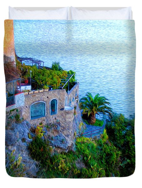 Seaside Villa Amalfi Duvet Cover by Bill Cannon