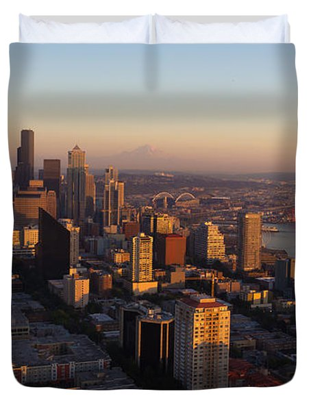 Seattle Blue Hour Duvet Cover by Heidi Smith
