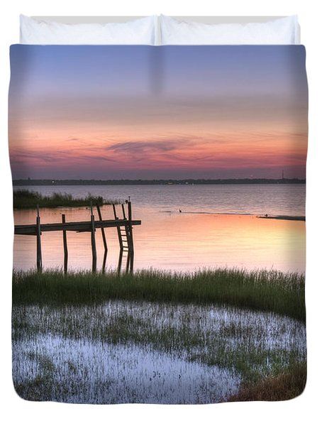 Sebring Sunrise Duvet Cover by Debra and Dave Vanderlaan