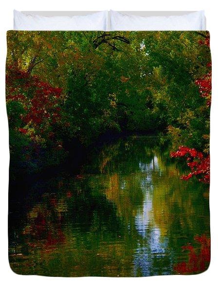 Secret Horse Creek Duvet Cover by Contemporary Luxury Fine Art