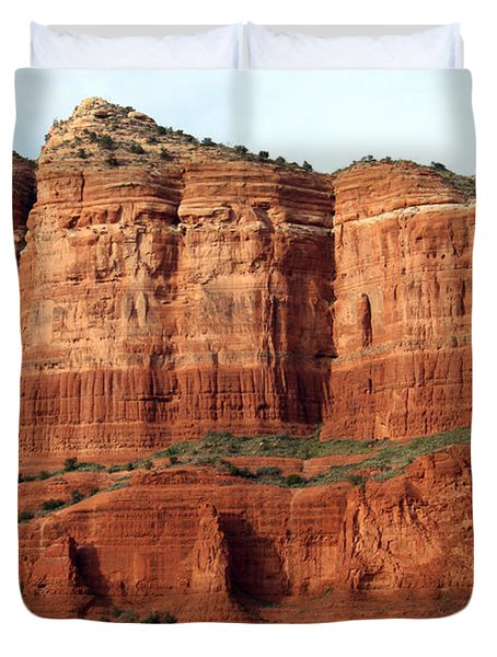 Duvet Cover featuring the photograph Sedona Red by Debbie Hart