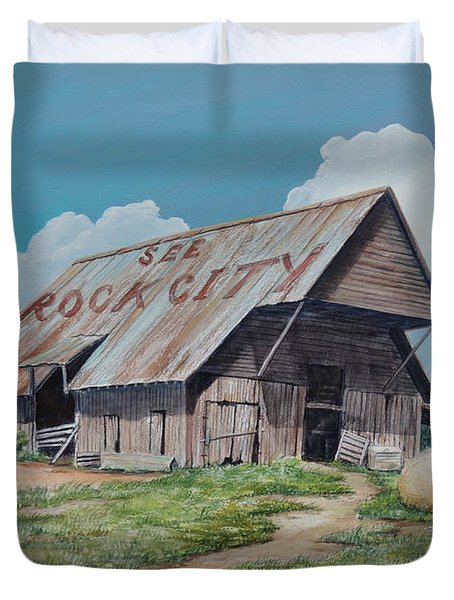 See Rock City Sold  Duvet Cover