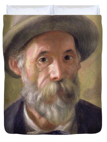 Self Portrait Duvet Cover by Pierre Auguste Renoir