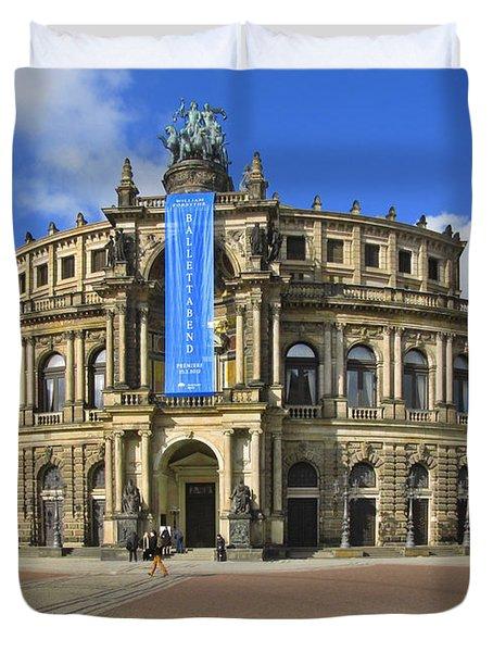 Semper Opera House - Semperoper Dresden Duvet Cover by Christine Till