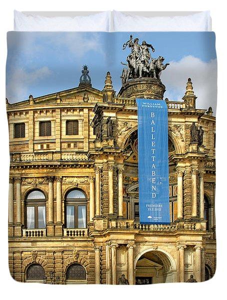 Semper Opera House Dresden Duvet Cover by Christine Till
