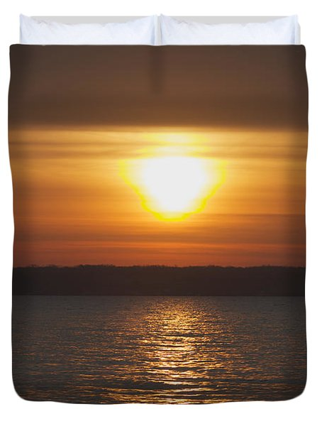 Duvet Cover featuring the photograph Seneca Lake Sunrise by William Norton