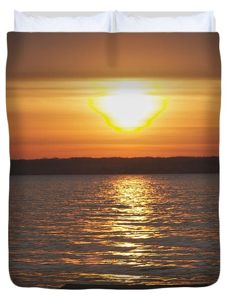 Duvet Cover featuring the photograph Seneca Lake by William Norton
