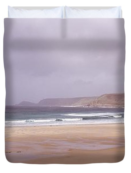 Sennen Cove Beach At Sunset Duvet Cover by Axiom Photographic