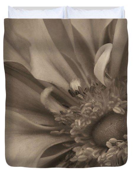 Sepia Floral Duvet Cover by Kristin Elmquist