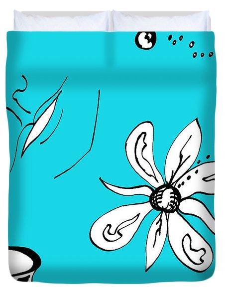 Serenity In Blue Duvet Cover