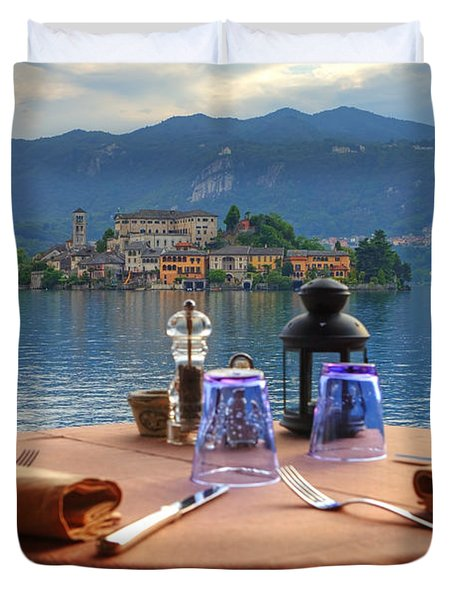 Set Table With A View Duvet Cover by Joana Kruse