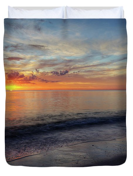 Setting Colors Duvet Cover by Nick  Shirghio