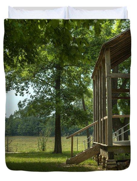 Settlers Cabin Arkansas 1 Duvet Cover by Douglas Barnett