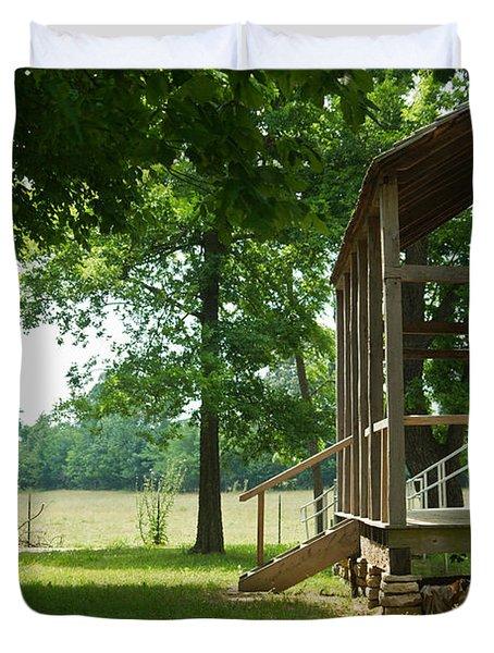 Settlers Cabin Arkansas 4 Duvet Cover by Douglas Barnett