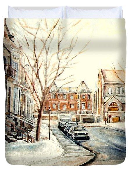 Shaar Hashomayim Westmount Montreal  Duvet Cover by Carole Spandau