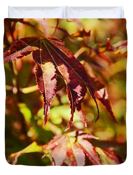Duvet Cover featuring the photograph Shades Of Autumn by Kerri Ligatich