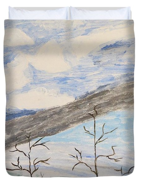 Duvet Cover featuring the painting Shades Of Nature by Sonali Gangane
