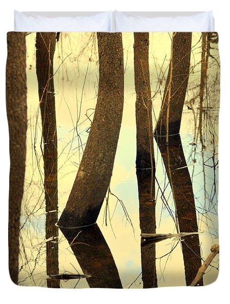 Shadow Trees Duvet Cover by Marty Koch