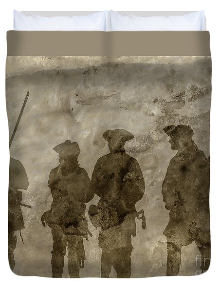 Shadows Of The French And Indian War Duvet Cover