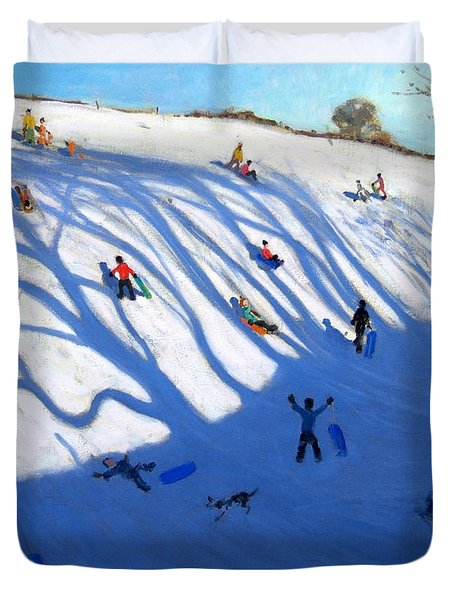 Shandows On A Hill Monyash Duvet Cover by Andrew Macara