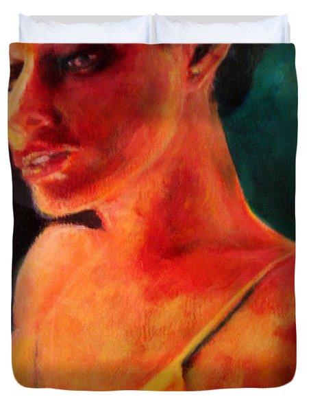 Shandra In Yellow Duvet Cover