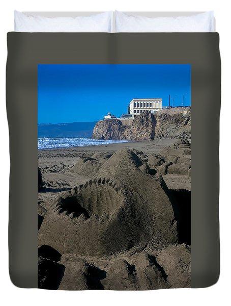 Shark Sculpture Duvet Cover by Garry Gay