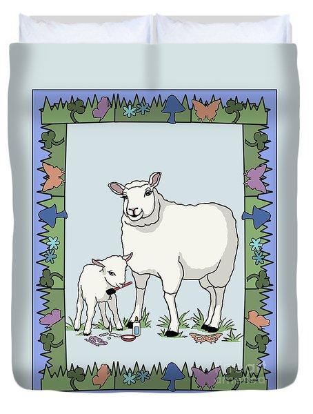 Sheep Artist Sheep Art Duvet Cover by Audra D Lemke