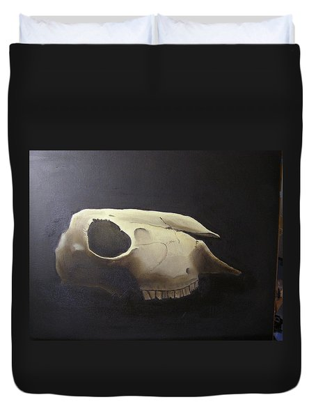 Sheep Skull Duvet Cover