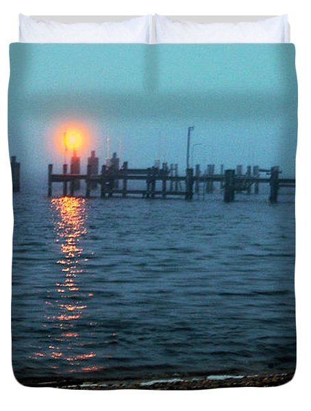 Duvet Cover featuring the photograph Shhh Listen by Clayton Bruster