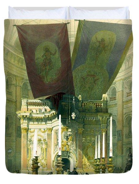 Shrine Of The Holy Sepulchre April 10th 1839 Duvet Cover