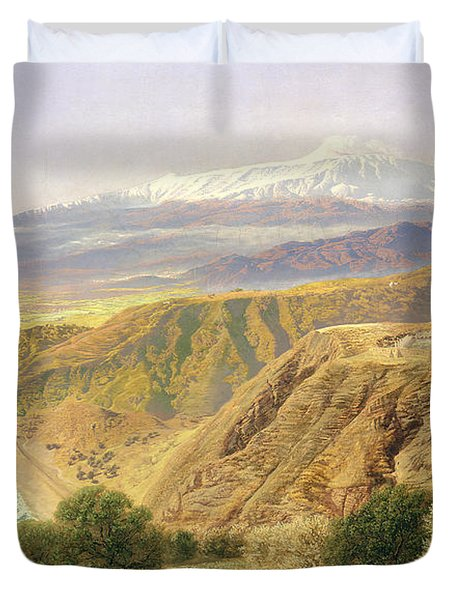 Sicily - Taormina Duvet Cover by John Brett