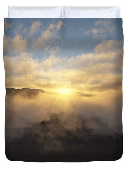 Sierra Sunrise Duvet Cover by Mark Greenberg