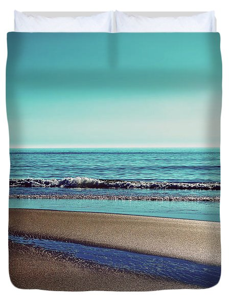 Silent Sylt - Vintage Duvet Cover by Hannes Cmarits