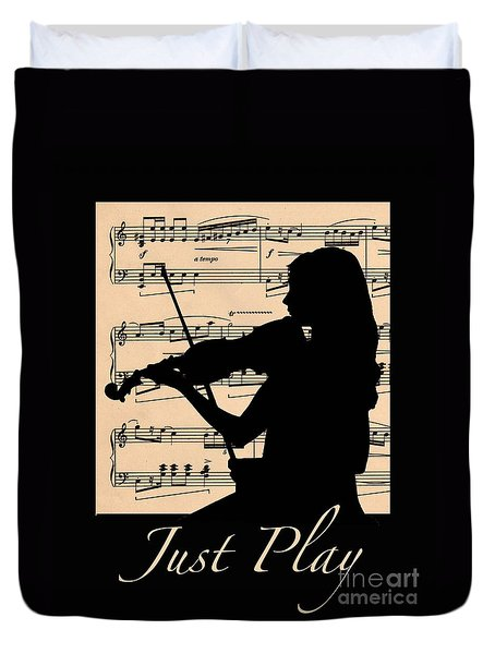 Silhouette Just Play Duvet Cover