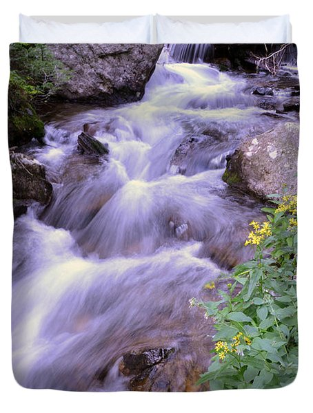 Silky Stream Duvet Cover by Zawhaus Photography