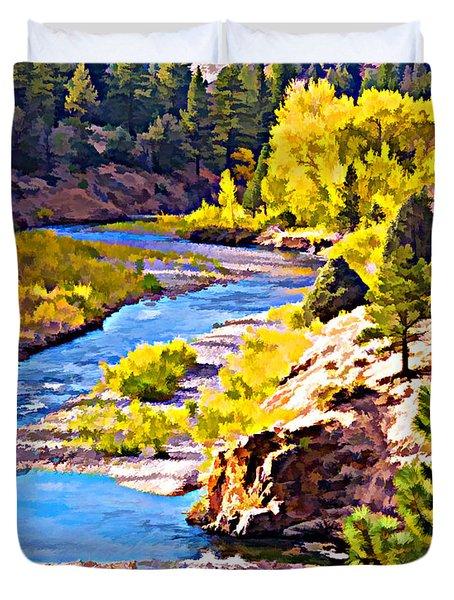 Silver Creek Duvet Cover