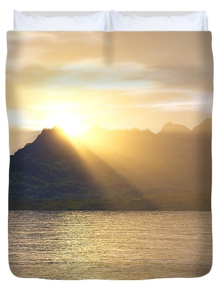 Silver Lake Duvet Cover by Mark Greenberg